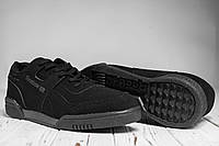 Стильные кроссовки мужские Reebok Workout Plus all black (реплика)