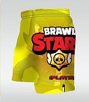 Детские тренировочные шорты мма Brawl Kids yellow