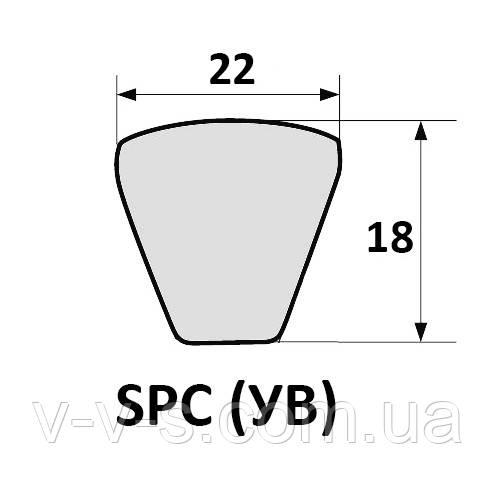 Ремень 2 УВ-2240 для жатки КМС