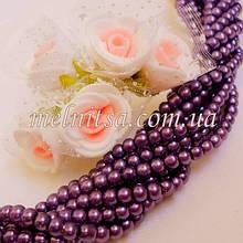 Бусины под жемчуг керамические, 4 мм, фиолетовый (50 шт)