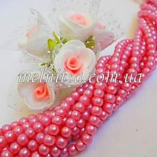 Бусины под жемчуг керамические, 4 мм, розовый (50 шт)