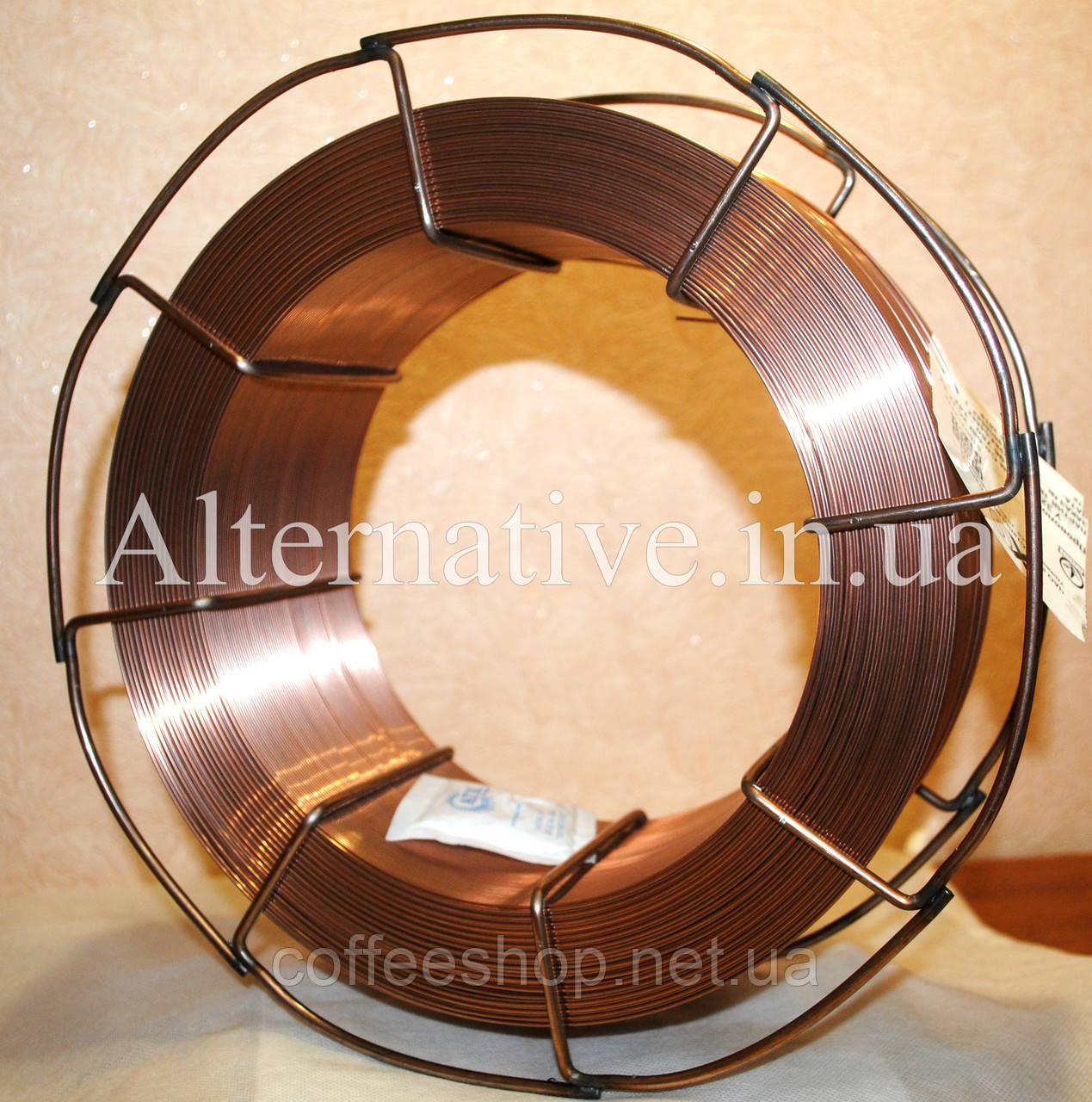 Омедненная сварочная проволока СВ08Г2С диаметром 1,2 мм (кассета 15 кг)