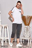Спортивный женский костюм графитовый батал (размер от 48 до 62)