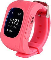 Детские смарт-часы Smart Baby Watch Q50 с  трекером Розовые