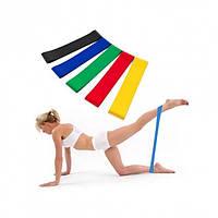 Резинки для фитнеса йоги пилатеса Lpowex 5 в 1 Разноцветные