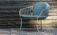 Кресло для отдыха LEAF большое металл напоминающий прожилки листьев