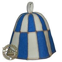 """""""Клетка""""(синяя), шапка для сауны"""