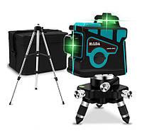 ✷Аналог Bosch GLL 3-80G✷БИРЮЗОВЫЙ ЛУЧ 50м✷Лазерный нивелир HILDA 3D 3x360° + Штатив в подарок!, фото 1