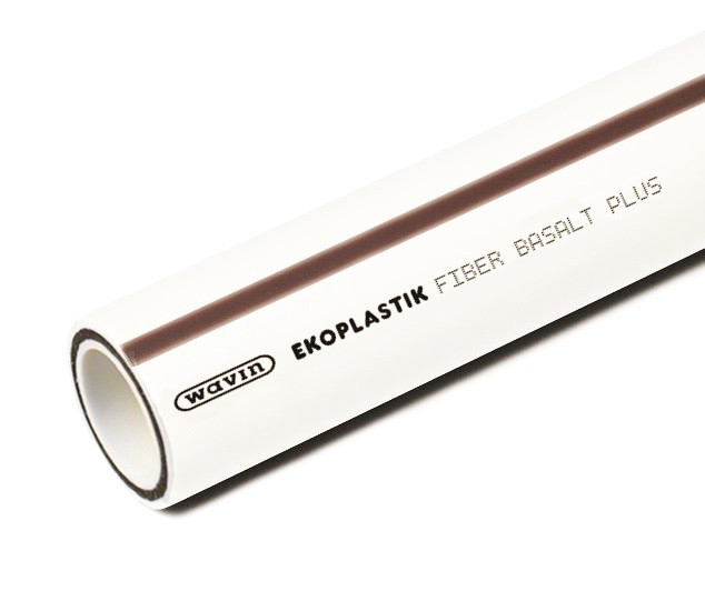 Труба WAVIN Ekoplastik Fiber Basalt Plus 20 Белая
