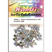 Стразы термоклеевые Crystal, 4 мм. (KND154.2)
