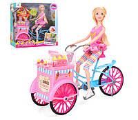 Кукла на велосипеде, мороженное