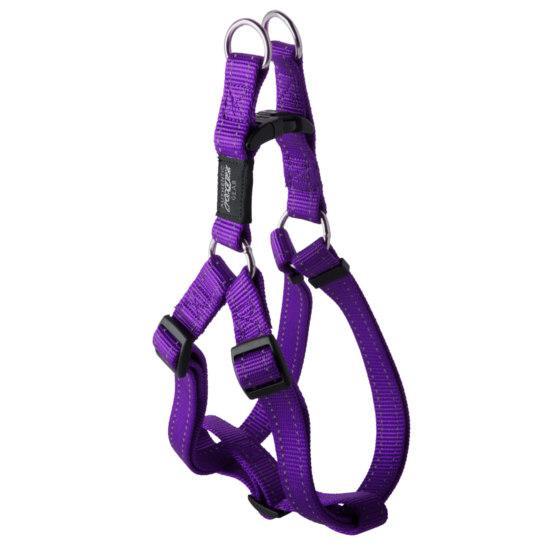 Нейлоновая шлея для собак, фиолетовая Utility Step-In  (Рогз) S: 27-38 см / 11 мм