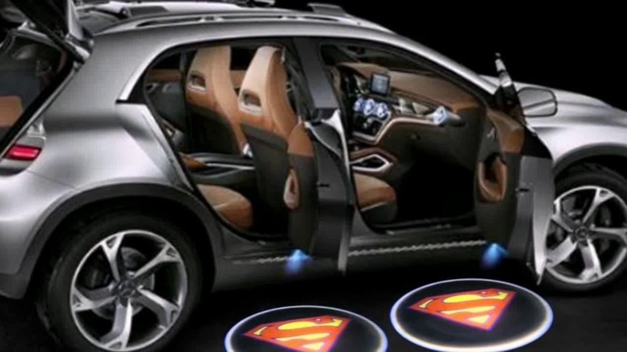 Подсветка логотипа авто на двери Superman
