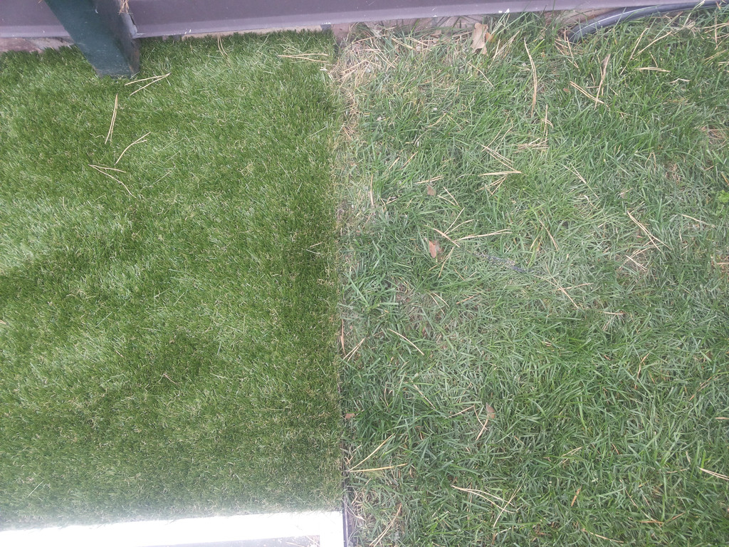 искуственная трава на садовом участке