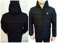 Ветровка Adidas, адидас, черная, спортивная, молодежная, стильная, 503