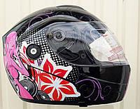 Шлем трансформер FGN чёрно красный женский с Disco