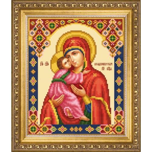 Владимирская божья матерь вышивка бисером 128