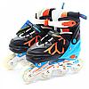 Детские ролики Scale Sports разноцветные (размер 35-38, металл, светящиеся колёса ПУ) LF601AM