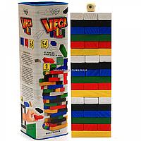 Настольная игра башня Vega (Вега) по цветам. Версия игры Дженга (Jenga) GVC-01, фото 1