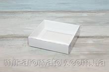 Коробка з прозорою кришкою 12 х 9,5 х 3,5 см біла (10шт)
