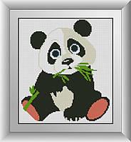 Алмазная мозаика Панда Dream Art 30003 26x29см 7 цветов, квадр.стразы, полная зашивка