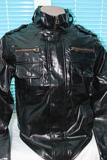 Куртка кожа PU байкерский стиль, фото 2