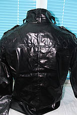 Куртка кожа PU байкерский стиль, фото 3