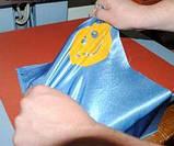 Термотрансферная пленка для термопереноса Глиттер цвет Бирюзовый 10х25см, фото 5