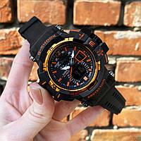 Часы спортивные мужские наручные Casio G-Shock Black-Orange