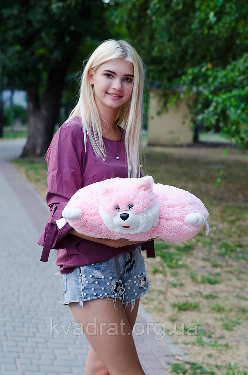 Подушка Складушка Котик розовый 45 см