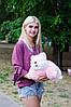 Подушка Складушка Котик розовый 45 см, фото 2