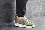 Мужские кроссовки Nike Air Force 1 темно зеленые, фото 2