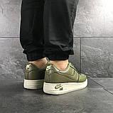 Мужские кроссовки Nike Air Force 1 темно зеленые, фото 4
