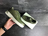 Мужские кроссовки Nike Air Force 1 темно зеленые, фото 5