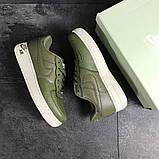 Мужские кроссовки Nike Air Force 1 темно зеленые, фото 6