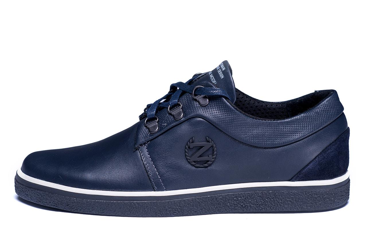 Мужские кожаные кеды ZG New Line Blue