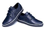 Мужские кожаные кеды ZG New Line Blue, фото 4