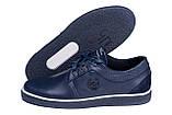 Мужские кожаные кеды ZG New Line Blue, фото 5