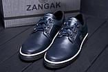 Мужские кожаные кеды ZG New Line Blue, фото 7