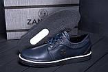 Мужские кожаные кеды ZG New Line Blue, фото 8