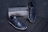 Мужские кожаные кеды ZG New Line Blue, фото 9