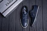 Мужские кожаные кеды ZG New Line Blue, фото 10