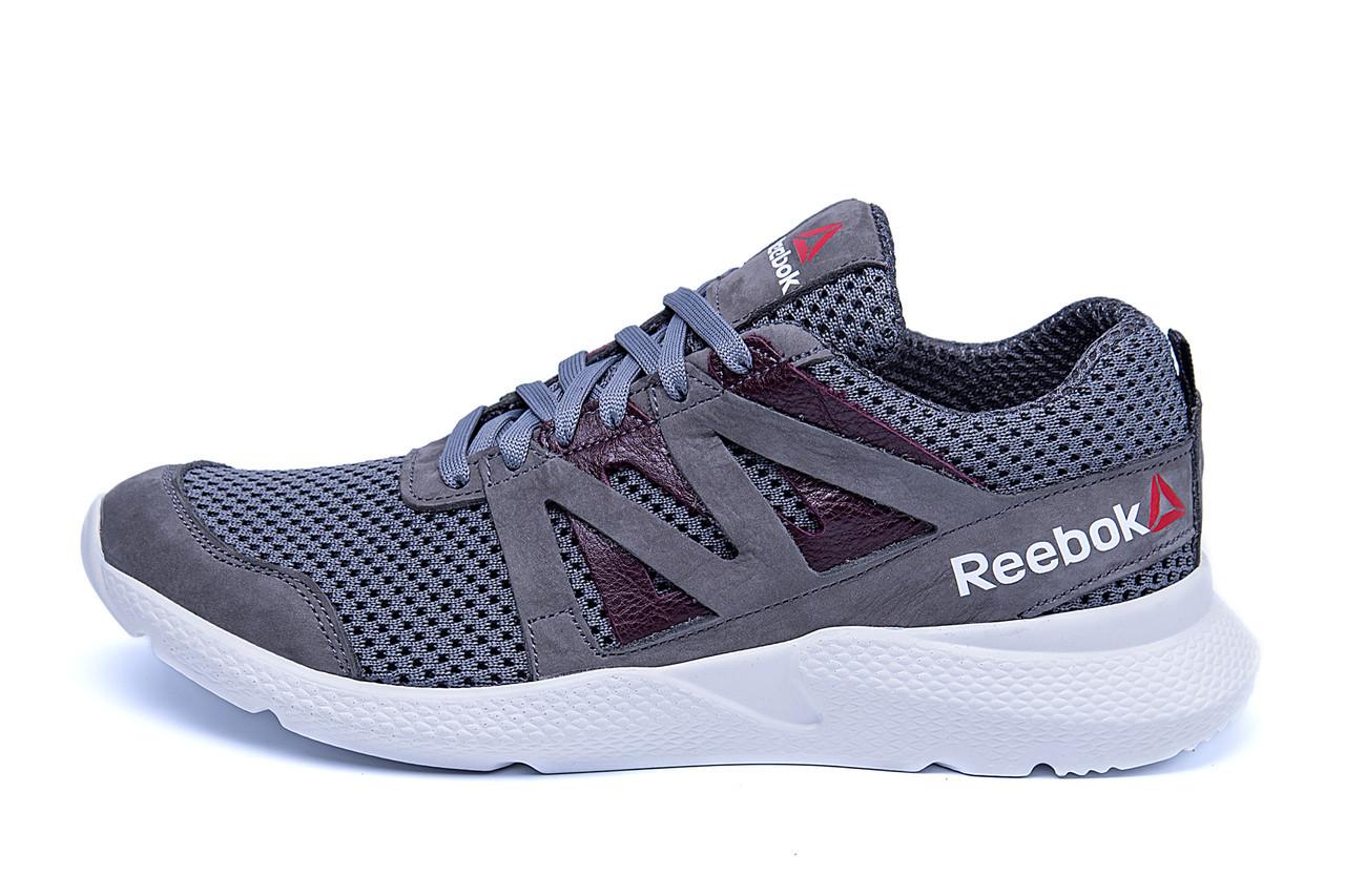 Мужские летние кроссовки сетка Reebok  Classic Grey (реплика)