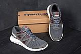 Мужские летние кроссовки сетка Reebok  Classic Grey (реплика), фото 8