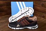Мужские летние кроссовки сетка Adidas Tech Flex Brown (реплика), фото 8