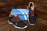 Мужские летние кроссовки сетка Adidas Tech Flex Brown (реплика), фото 9
