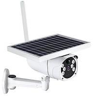 Бездротова IP Wi Fi смарт камера з датчиком руху нічним баченням і сонячною батареєю 2Mp CAD 6WTYN білий