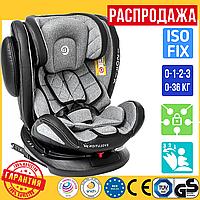Детское Поворотное Автокресло c ISOFIX 0-36 кг El Camino Evolution 360 Серое (ME 1045)