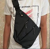 Нагрудная сумка, кроссбоди Wallaby 113 черная, фото 1