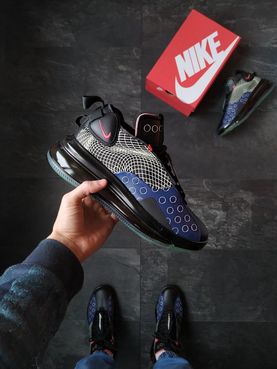 Кроссовки мужские Nike DMSX Air Max 720 Черные с синим